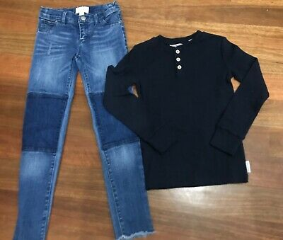 282. Country Road Girls Jeans And Henley Size 7