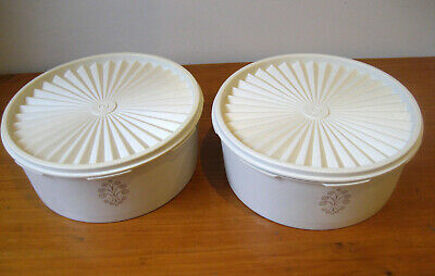 Tupperware Storage Containers, Pair, Biscuits/Cakes Vintage