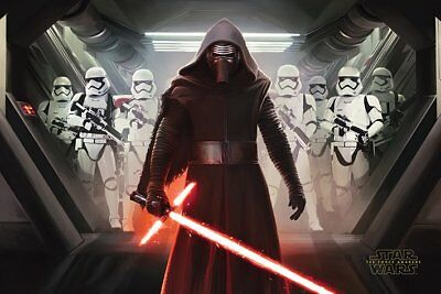 Official poster Star Wars The Force Awakens - Kylo Ren and Stormtroopers (2015)