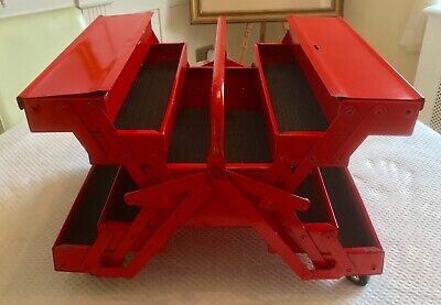 Large Cantilever Toolbox, Twin Cantilever Metal Toolbox On Castors