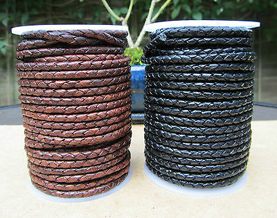 Quality Braided 4mm Leather Cord
