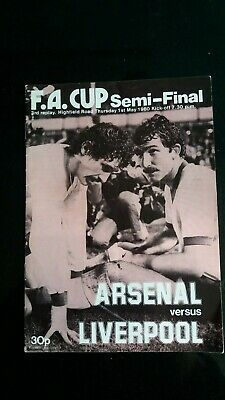 ARSENAL v LIVERPOOL FA CUP SEMI FINAL 3rd REPLAY at Coventry 1979/80 1980