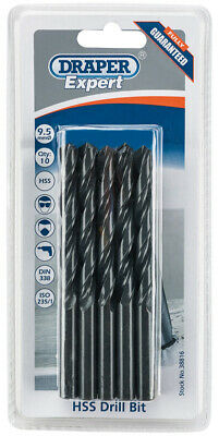 Genuine DRAPER Expert 9.5mm HSS Drills Card Of 10 | 38816