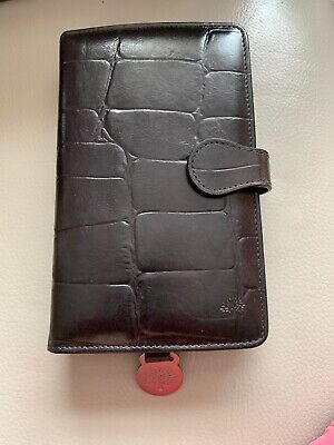 Mulberry Pocketbook Filofax Dairy Cards Holder Leather