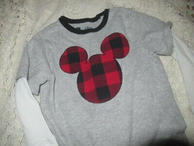euc Baby Gap Disney Mickey Mouse long  sleeve shirt boys 4T free ship USA