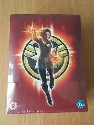 Captain Marvel 4K Zavvi Exclusive Collector's Edition Steelbook + 2D Blu Ray