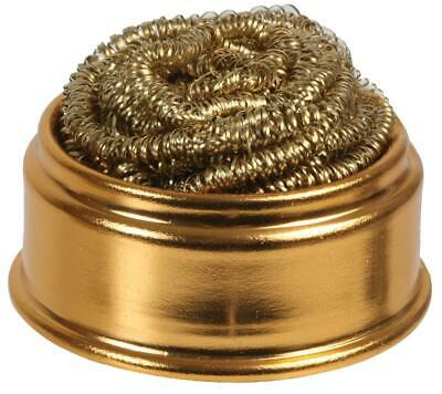 Brass Wool SOLDERING IRON TIP CLEANING BALL & BASE Refill Cleaner Scrubber Tool