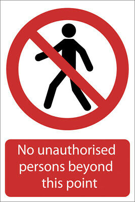 DRAPER 'No Unauthorised Persons Beyond This Point' Prohibition Sign | 72937