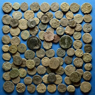 Lot of 100 Uncleaned Roman Bronze Coins #3