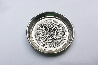 Mexico sterling River silver 925 Aztec style pin dish small tray