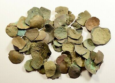 Lot Of 50 Ancient Byzantine Cup Coins/Fragments - Low Quality - 03