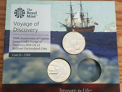 2019, 2018 Captain James Cook  £2 Coin Pack