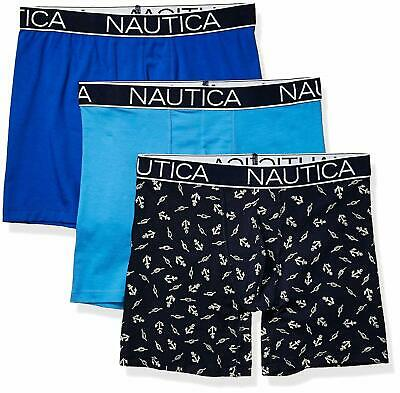 Nautica Men's 3-Pack Classic Underwear Cotton Stretch Boxer Brief