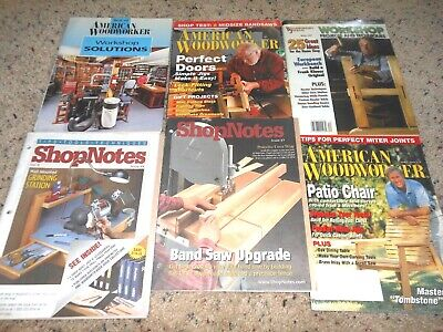 Woodworking Carentry Magazines Shop Notes Mix Year Type Lot of 7