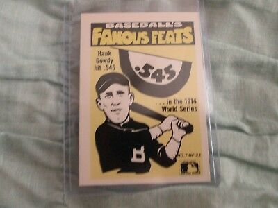 1986 Fleer Famous Feats Sticker Set Of 22 Baseball Cards