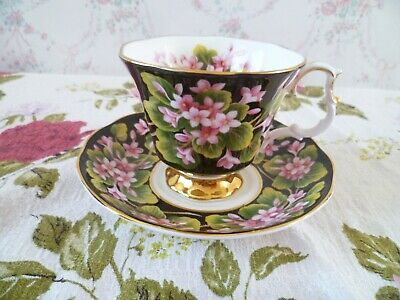 Lovely Royal Albert English China Tea Cup & Saucer Provincial Flowers Mayflower