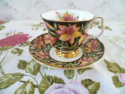 Royal Albert English China Tea Cup & Saucer Provincial Flowers Prairie Lily