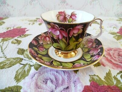 Royal Albert English China Tea Cup & Saucer Provincial Flowers Pitcher Plant