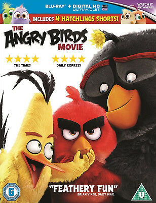 The ANGRY BIRDS MOVIE BLU RAY NEW and SEALED CG Kids Animated Film + 4 Shorts