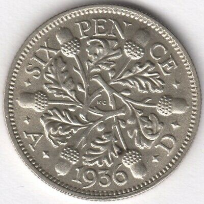 1936 George V Silver Sixpence | British Coins | Pennies2Pounds