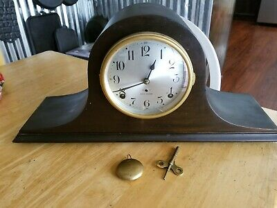 Antique Seth Thomas Tambour (humpback) Mantle Clock #89L 1/4 hr chime. Working