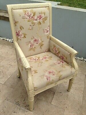 Armchair - Shabby Chic antique/ restoration up cycled fireside chair 99p bargain