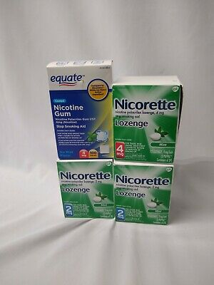 Stop Smoking COMBO Nicotine Lozenge 316 Count 2+4 mg MINT Flavor Nicorette Value