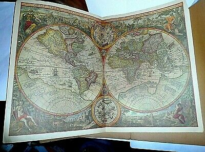 VINTAGE MAP OF THE WORLD from ITINERARIO - 1596 - POSTER/PRINT