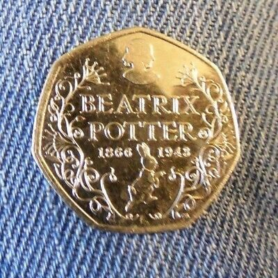 Beatrix Potter - 150th Anniversary -  50p Fifty Pence coin 2016 z