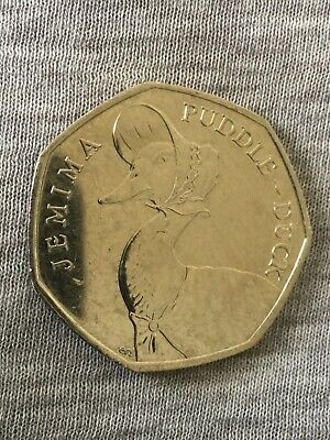 2016 Jemima Puddle-Duck 50p Rare Circulated Coin