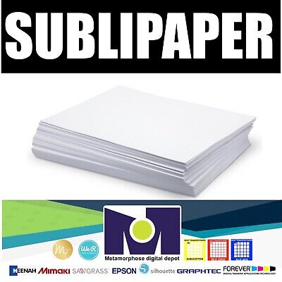"""Dye Sublimation Transfer Paper SUBLIPAPER 100 Sheets 8.5""""x14"""" FREE DELIVERY"""