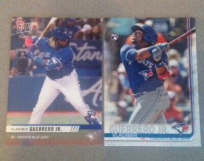 (2) Vladimir Guerrero Jr Rookies 2019 Topps RC No#+2019 Fall Expo Topps Now RC