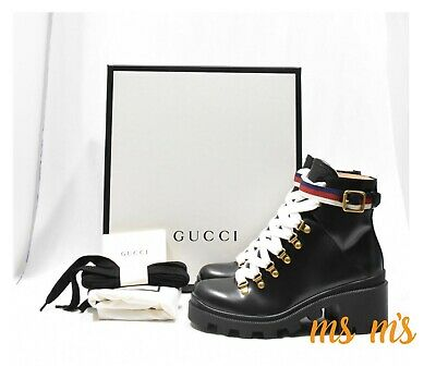 04f946152 NEW AUTH GUCCI Victoire GG Monogram Ankle Boots Bootie Eur 41/ US 11 ...