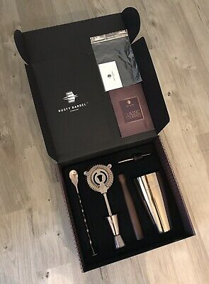Refurbished Rusty Barrel Chelsea Cocktail Making Set (shaker has some scratches)