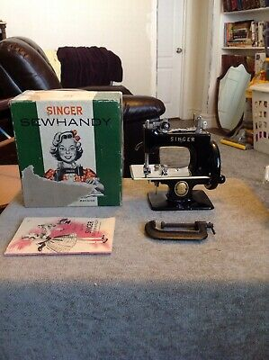 Mib Nice Rare Antique Vintage Singer Sewhandy 20 Toy Sewing Machine Small Child