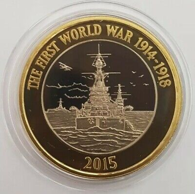2015 The Royal Mint The Royal Navy Two Pounds £2 coin PROOF UK in Capsule.