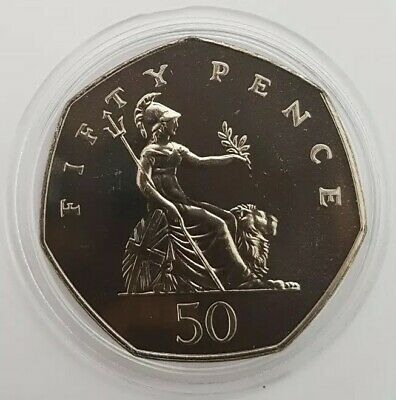 1993 Royal Mint Britannia Large Type fifty Pence 50p coin Brilliant Uncirculated