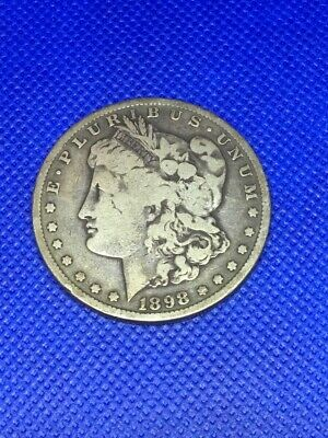 1898-S Us Morgan Silver Dollar Free Shipping