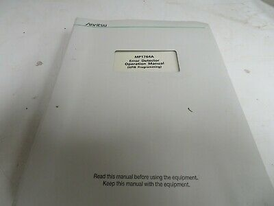 ANRITSU MP1764A Error detector operations manual (GPIB) programming NC38 #