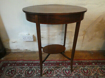 Elegant Antique Oval Occasional Table