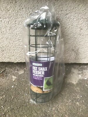 Brand New Gardman Fat Snax Bird Feeder Wild Birds Easy Fill