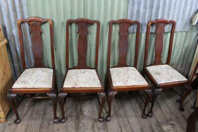 A Vintage Set of Four Blackwood High Back Dining Chairs