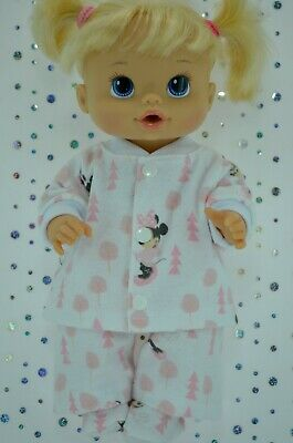 "Play n Wear Dolls Clothes For 13"" Baby Alive PJ'S~FLANNELETTE PANTS~TOP~BOOTES"