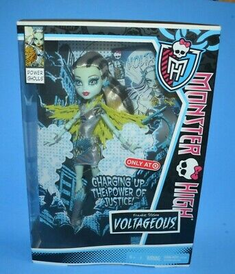 NEW 2013 Mattel Monster High Power Ghouls VOLTAGEOUS FRANKIE Stein Fashion Doll
