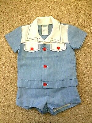 Vintage (1970's) Boys' *Darol Junior* Two Piece Outfit, Size 1, Made in Aust.