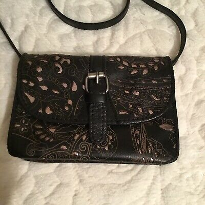 PATRICIA NASH FLORAL EMBOSSED TORRI CROSSBODY BAG, Preowned