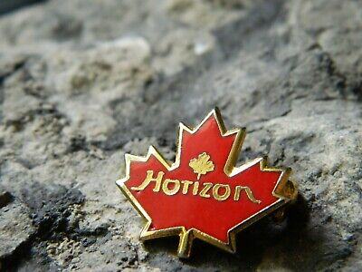 Horizon Air Canada Flight Company Aviation Maple Leaf Enamel Pin #122