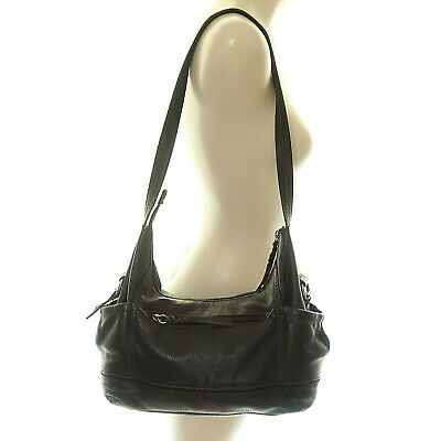 Clarks Handbag Purse Shoulder Bag Hobo Strap Black Leather