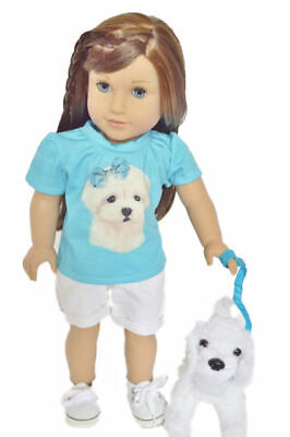 Maltese Shorts Set for American Girl Dolls 18 Inch Doll Clothes Our Generation