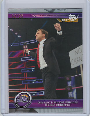2019 Topps WWE Road to Wrestlemania SILVER Parallel #43 Drew Gulak #2/25